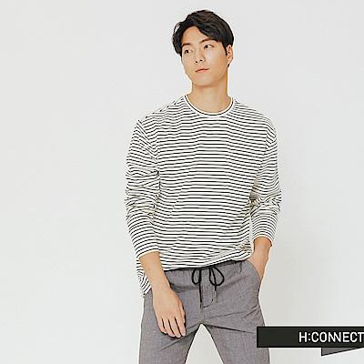 H:CONNECT 韓國品牌 男裝-細條紋口袋上衣-白