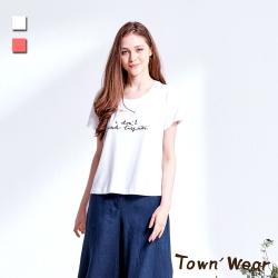 【TOWNWEAR棠葳】美式印花純棉短版上衣