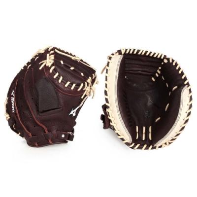 MIZUNO 棒球捕手手套-右投  棒球 壘球 美津濃 312736-R 深咖啡棕