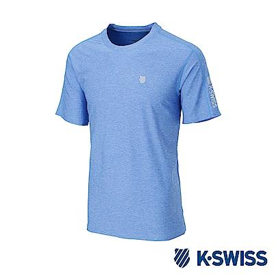 K-SWISS PF RE Melange Tee排汗T恤-男-寶藍