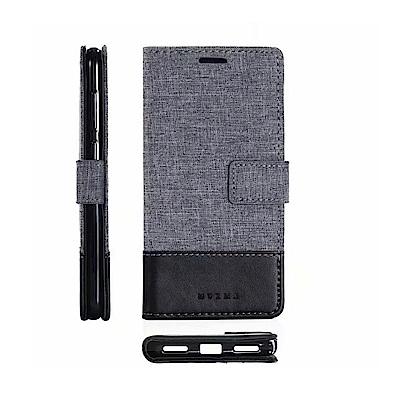 PKG For:小米A2 側翻保護殼-國際時尚款-黑灰色