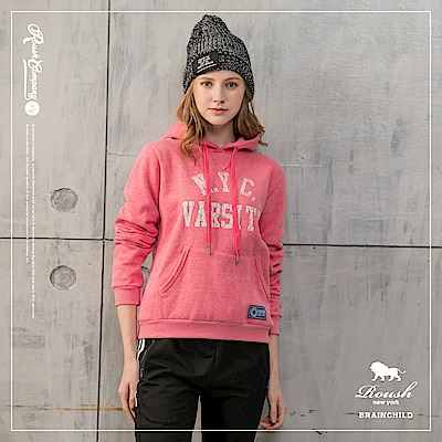 Roush 女生NYC美式刷毛帽TEE(2色)