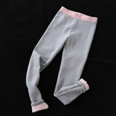 純棉牛奶絨內搭褲加絨加厚外穿保暖顯瘦小腳長褲-設計所在