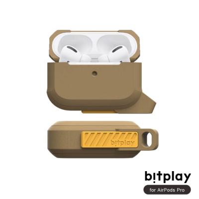 bitplay AirPods Pro 矽膠抗震機能撞色全方位保護套(附可拆掛鉤)-Brown棕