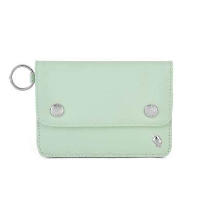 PORTER - 輕甜繽紛SPIRIT橫式卡夾零錢包 - 百合綠(銀)