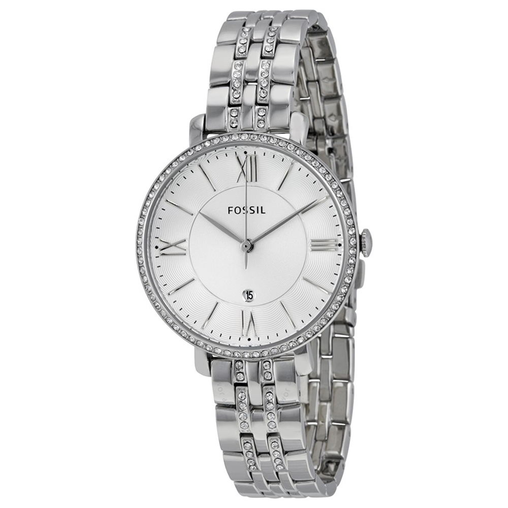FOSSIL 羅馬字時標水鑽腕錶(ES3545)-白/36mm