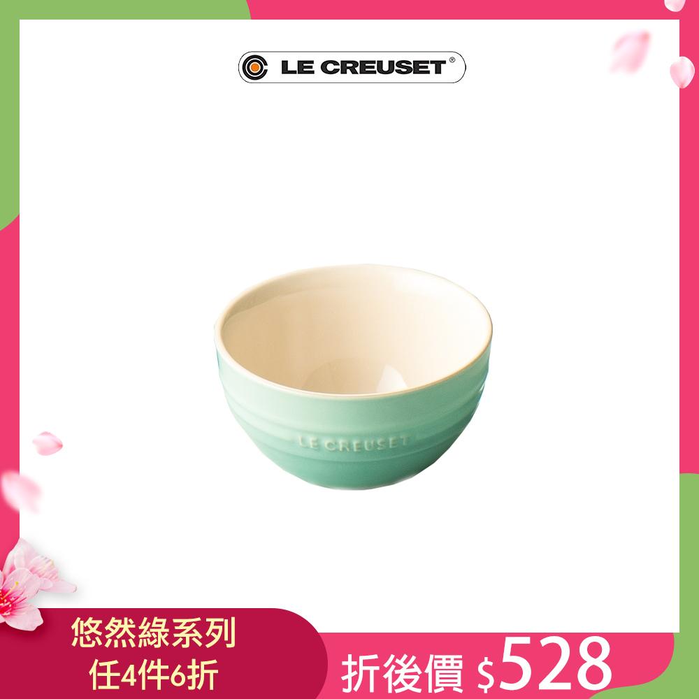 [任4件6折] LE CREUSET 瓷器韓式飯碗(悠然綠)