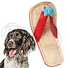 dyy》可愛拖鞋形絲瓜潔齒寵物玩具14.8x6.2cm