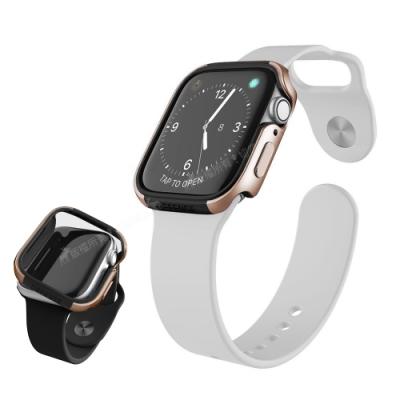 刀鋒Edge系列 Apple Watch Series 6/SE (44mm) 鋁合金雙料保護殼 保護邊框(古銅金)