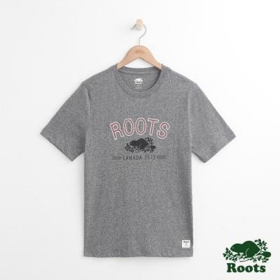 男裝Roots 原創庫柏短袖T恤-灰色