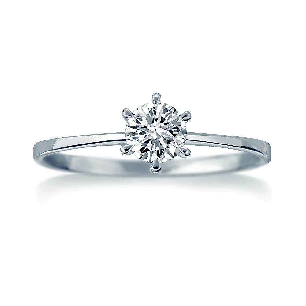 Alesai 艾尼希亞鑽石 18分 六爪鑽戒