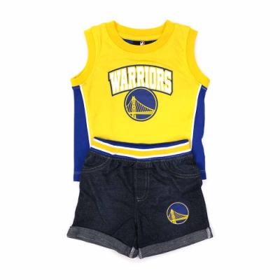 NBA 新生兒 無袖套裝 勇士隊