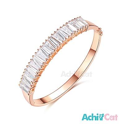 AchiCat 白K手環 氣質高貴 (玫金)