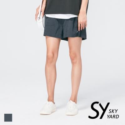 【SKY YARD 天空花園】個性迷彩壓紋休閒短褲-黑色