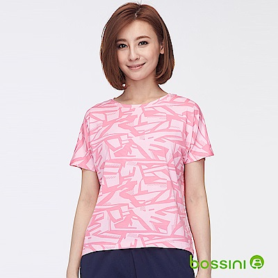 bossini女裝-ZtayCool冰涼觸感短袖T恤粉色