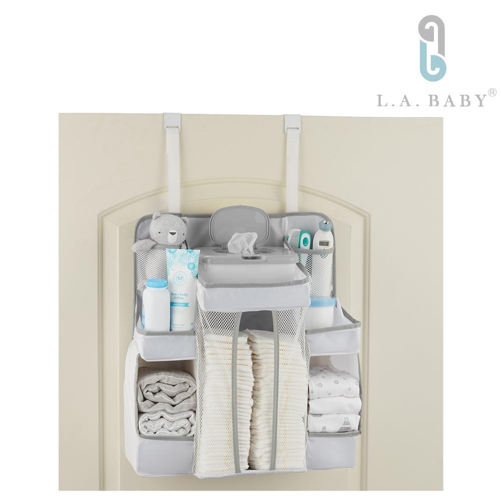 【L.A. Baby】L.A. Baby 置物收納袋 嬰兒床用