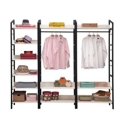 H&D 伊凡卡7.4尺鐵架衣櫃組