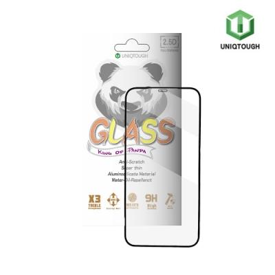 UNIQTOUGH iPhone12 mini (5.4吋)王者熊貓高透光耐衝擊強化玻璃保護貼/黑邊