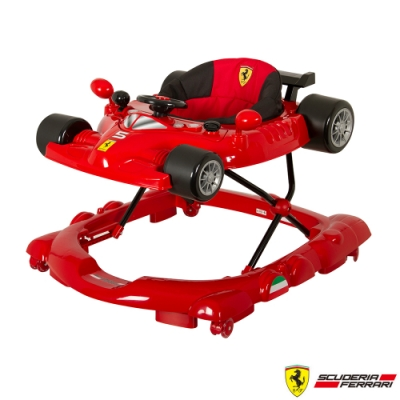 【Ferrari 法拉利】全台獨家 F1 折疊學步車 螃蟹車 滑步車