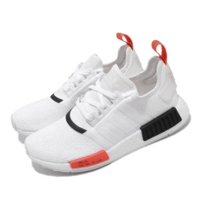 adidas 休閒鞋 NMD R1 襪套式 穿搭 男女鞋 愛迪達 三葉草 Boost 情侶鞋 流行 白 黑 EH0045