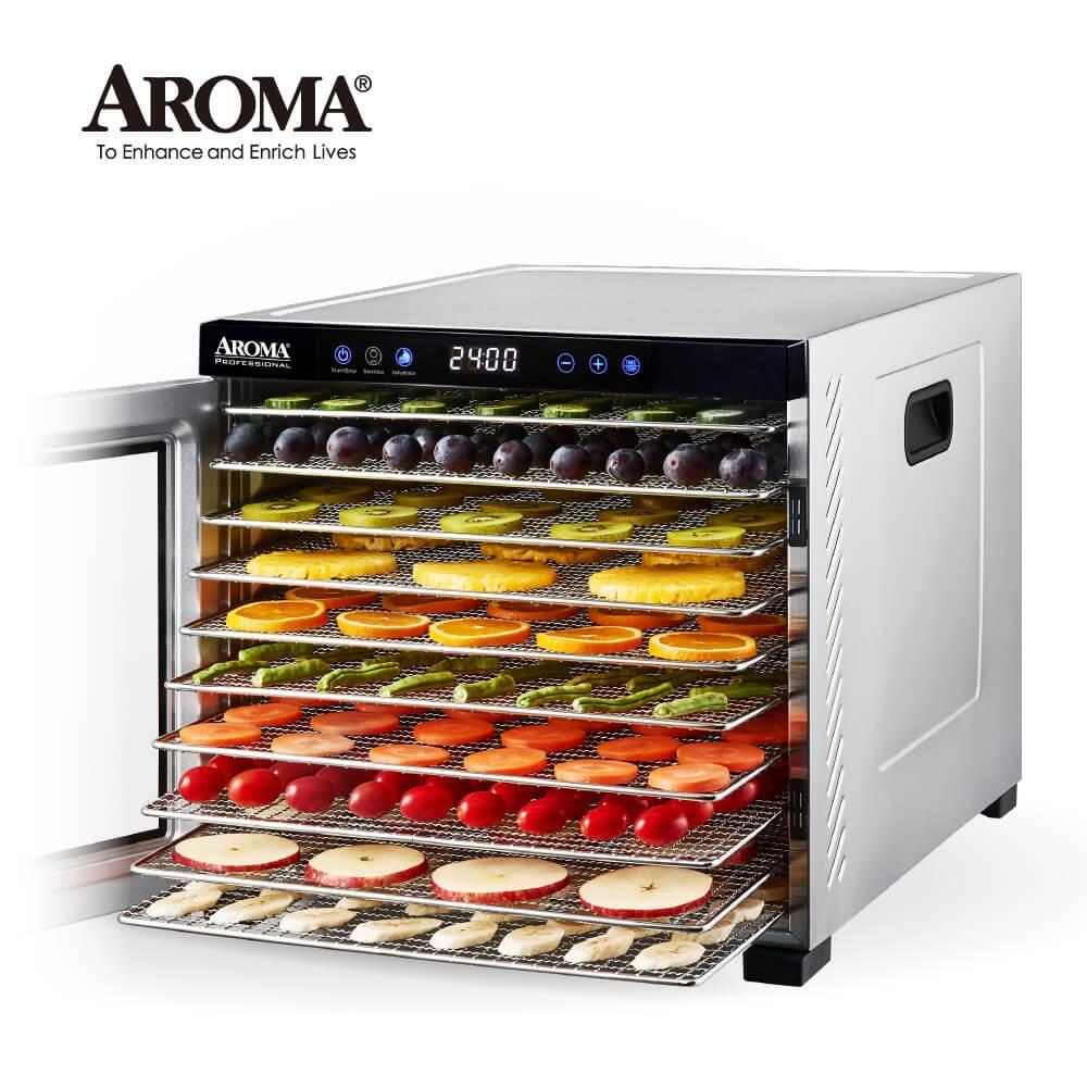 【美國最新款】美國 AROMA 紫外線全金屬十層乾果機 果乾機 食物乾燥機 烘乾機 AFD-925SDU
