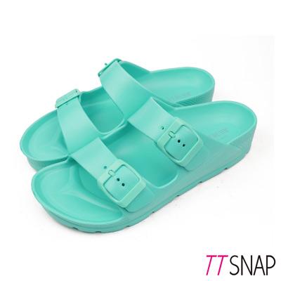 TTSNAP拖鞋-MIT輕量運動休閒拖鞋 綠