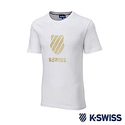K-SWISS KS CI Logo Tee印花短袖T恤-男-白