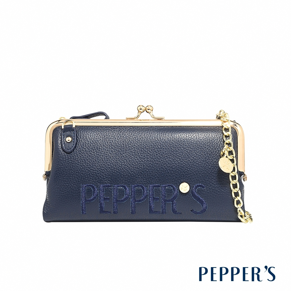 PEPPER'S Clarie 牛皮口金長夾 - 午夜藍