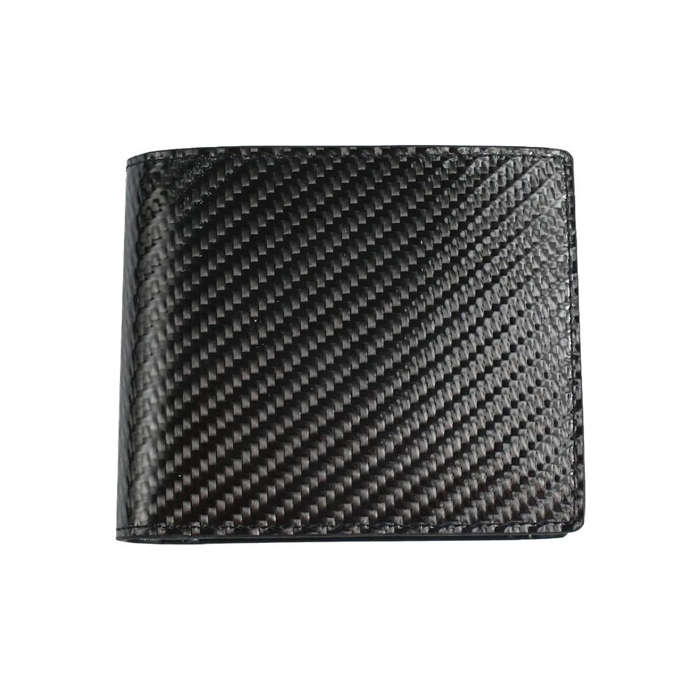 玩皮工坊-真皮碳纖維牛皮男士多隔層翻頁式皮夾皮包錢夾錢包短夾男夾LH413