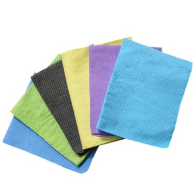 金德恩 戶外露營 運動 台製仿麂皮超吸水 冰涼領巾(80X17cm)2入組