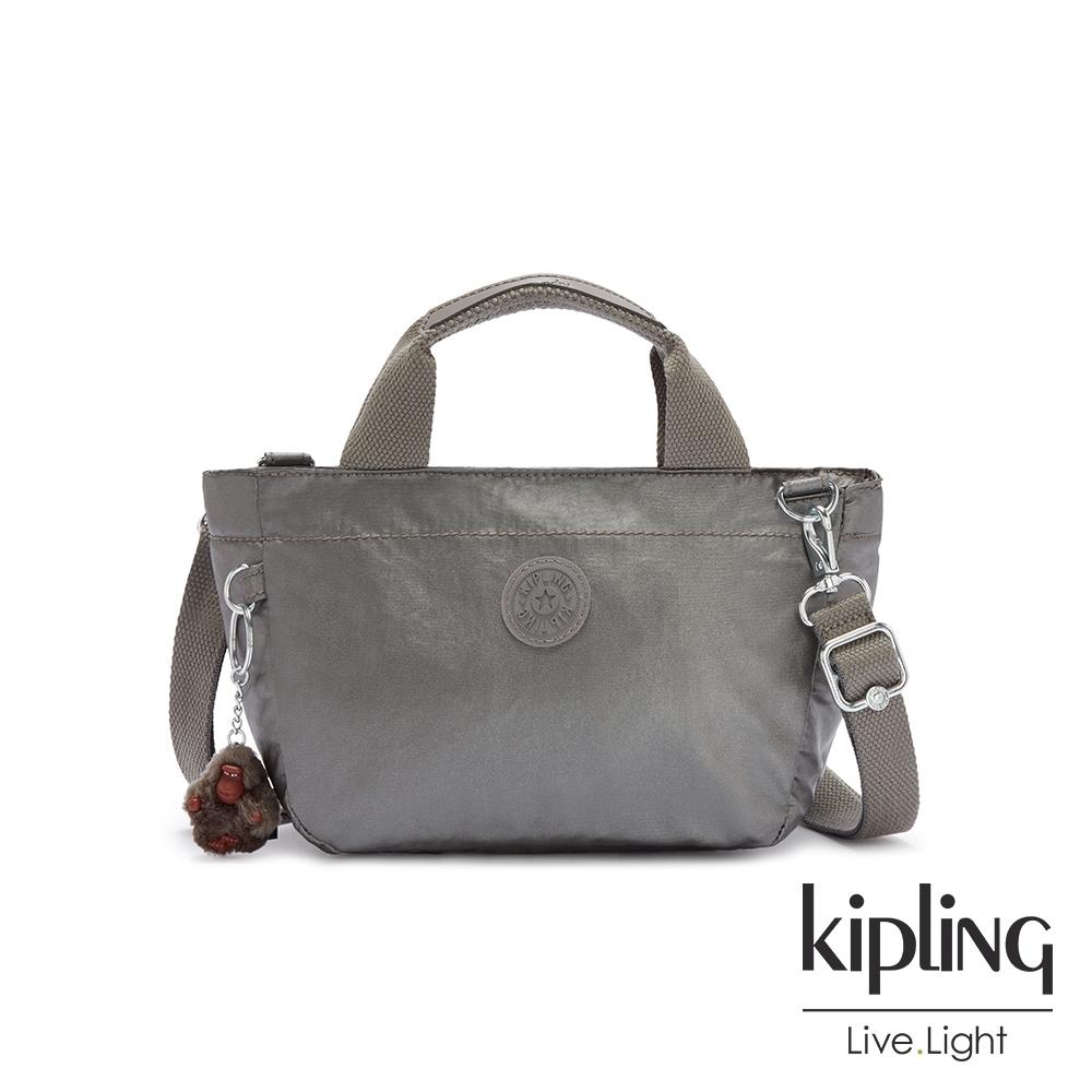 Kipling 寧靜月光灰手提兩用斜背包-SUGAR S II