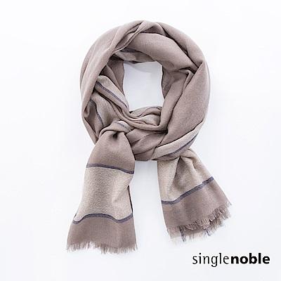 獨身貴族 藝術氣息幾何拼接方格圍巾(2色)