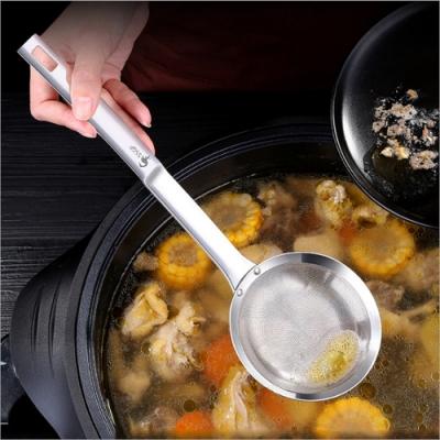 PUSH!餐具用品304不鏽鋼濾油勺過濾網勺漏勺油炸火鍋勺1入組D195