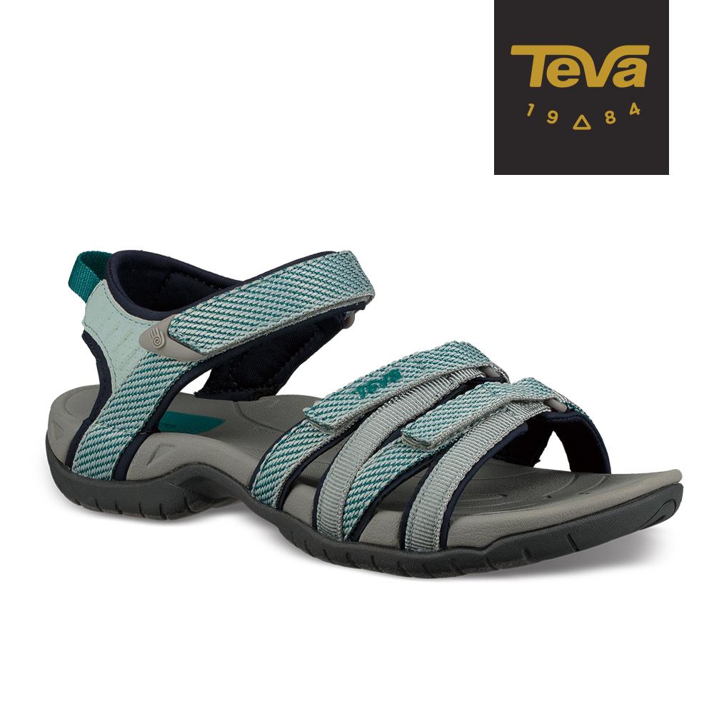 TEVA 女 Tirra 水陸兩棲 多功能運動涼鞋 - 灰霧藍