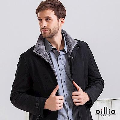 歐洲貴族 oillio 內刷毛外套 型男首選 舒適內裏 黑色