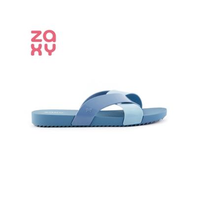 ZAXY Snap系列 雙色拖鞋-水藍