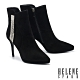 短靴 HELENE SPARK 奢華時髦流蘇晶鑽鍊條尖頭美型高跟短靴-黑 product thumbnail 1