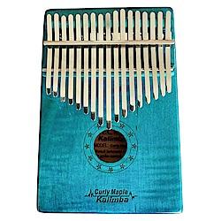Kalimba嚴選MC-BL虎紋楓木卡林巴 17音拇指琴(虎紋藍)限量