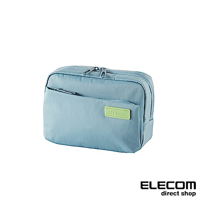 ELECOM 帆布多功能側背包OF03-粉藍