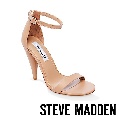 STEVE MADDEN-LARA一字錐型高跟涼鞋-藕色