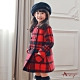 Annys安妮公主-英倫格紋秋冬款雙排扣雙口袋大衣*7672紅色 product thumbnail 1