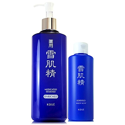 *KOSE高絲 雪肌精化妝水500ml(極潤型)贈草本潤白沐浴乳200ml