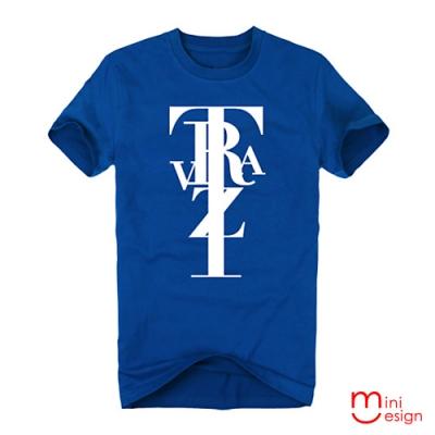 (男款)TRZVA字母組合潮流短T男設計短T 三色-Minidesign
