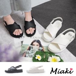 Miaki-涼鞋韓系簡約厚底涼拖女鞋