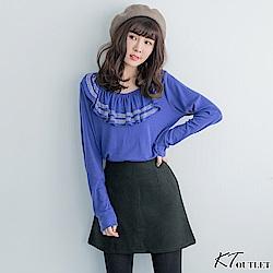 KT 垂墜領亮鑽柔軟T-紫
