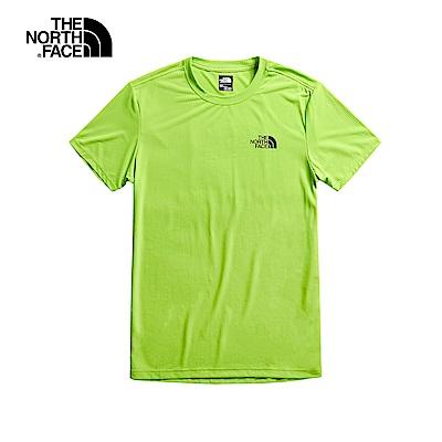 The North Face北面男款綠色吸汗速乾短袖T恤|3V8S6X0