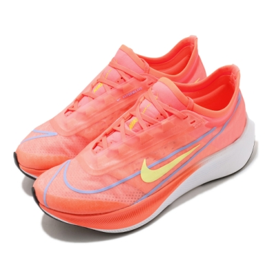 Nike 慢跑鞋 Zoom Fly 3 運動 女鞋 氣墊 舒適 避震 路跑 健身 球鞋 橘 黃 AT8241801