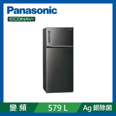 Panasonic國際牌 579L 雙門 變頻電冰箱 晶漾黑 NR-B581TV-K