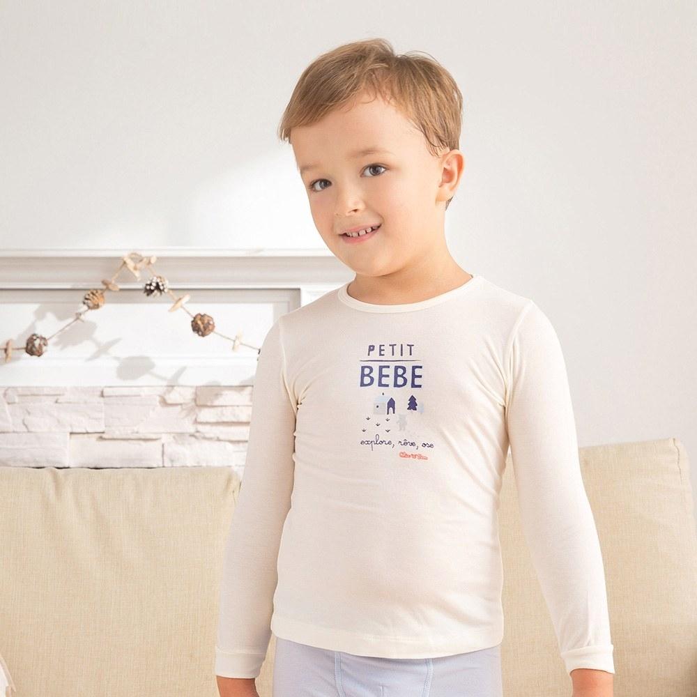 奇哥 甲殼素抗菌保暖布圓領衫(1-4歲)