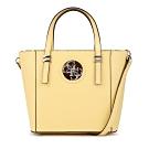GUESS-女包-素色金屬logo裝飾托特包-黃
